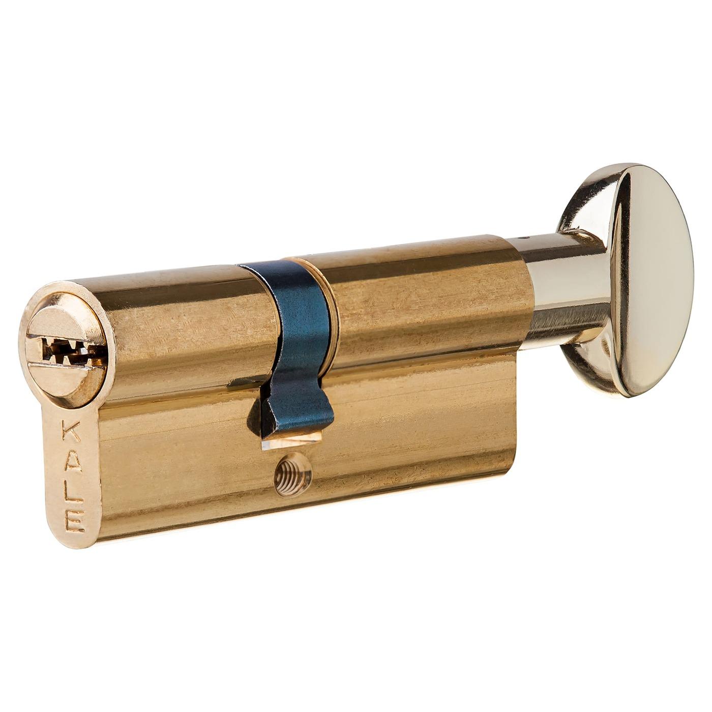 Цилиндр 164SM-80-C-BP, 30х40 мм, ключ/вертушка, цвет золото