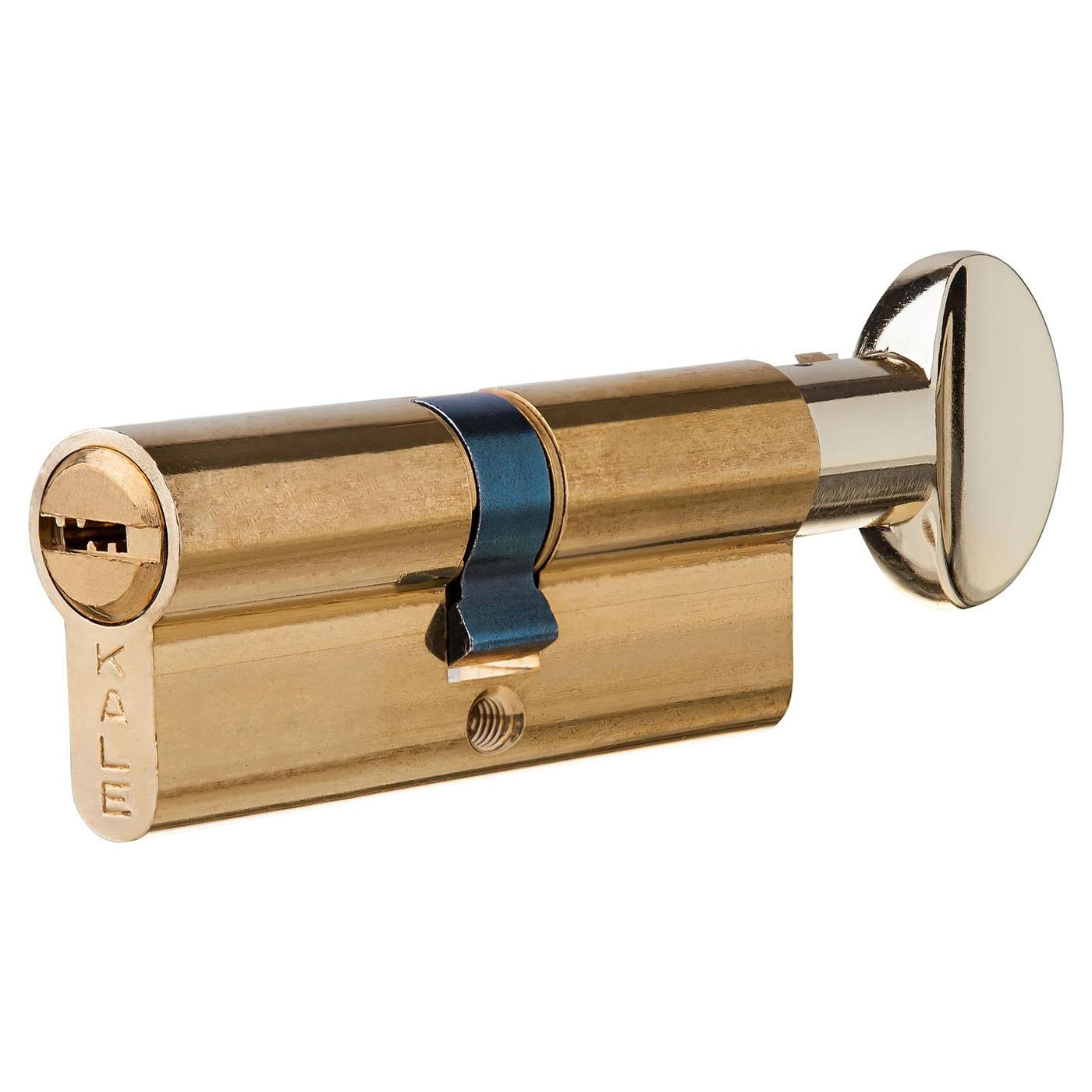 Цилиндр 164BM-80-C-BP, 35х35 мм, ключ/вертушка, цвет золото