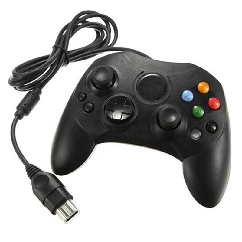 Джойстик для Xbox original Old school проводной (черный/блистер)