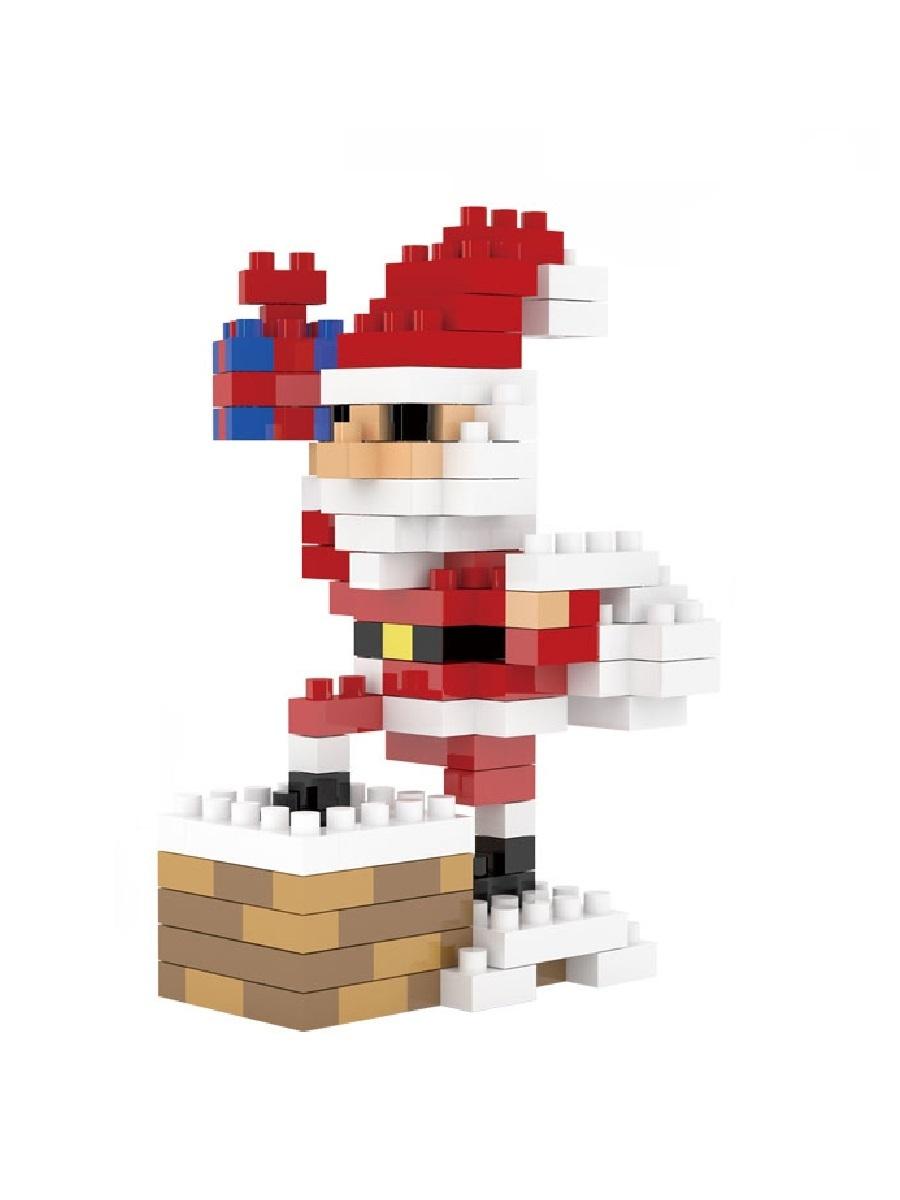 Конструктор Wisehawk & LNO Санта Клаус на крыше 155 деталей NO. 2262 Santa Claus with a pipe Gift series
