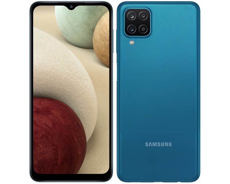 Защитное стекло для Samsung Galaxy A12 с черной рамкой