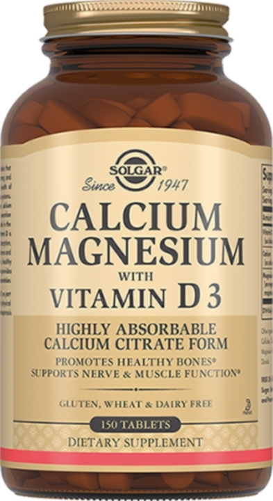 "Solgar, Calcium Magnesium with Vitamin D3 ""Кальций-Магний с Витамином D3"", 150 таблеток  #1"