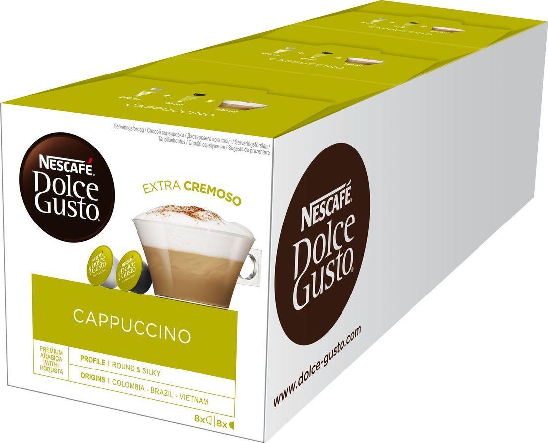 Кофе капсульный Nescafe Dolce Gusto Капучино, 3 упаковки по 16 капсул  #1