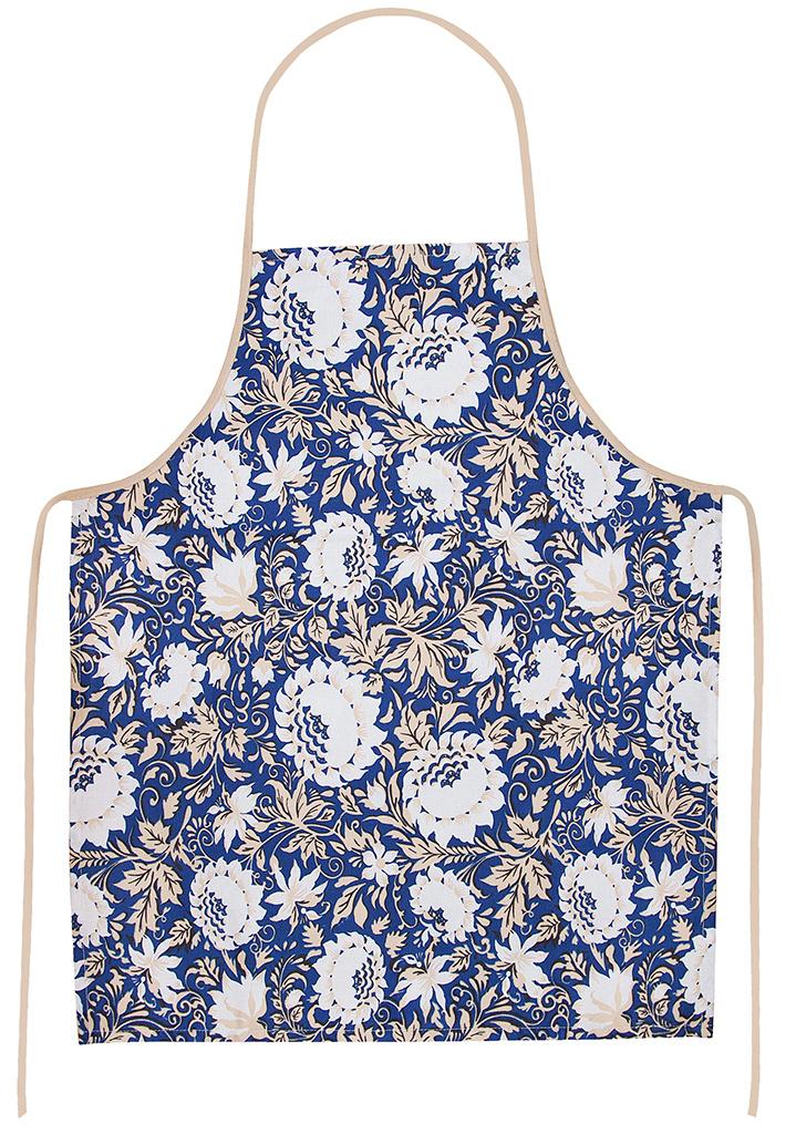 Фартук кухонный Bonita 65x55, белый, синий #1