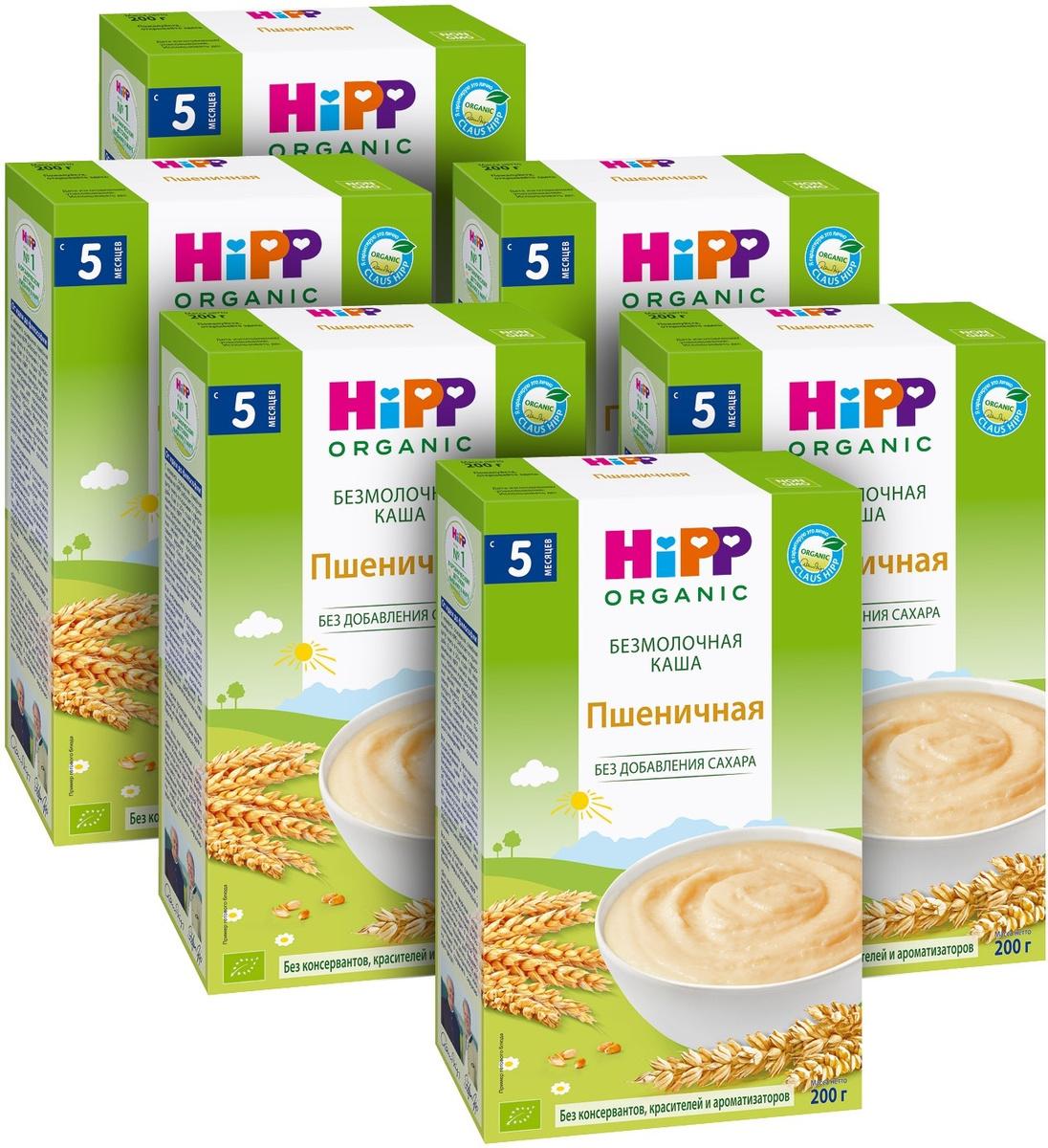Hipp каша органическая зерновая пшеничная, 5 месяцев, 6 шт по 200 г  #1