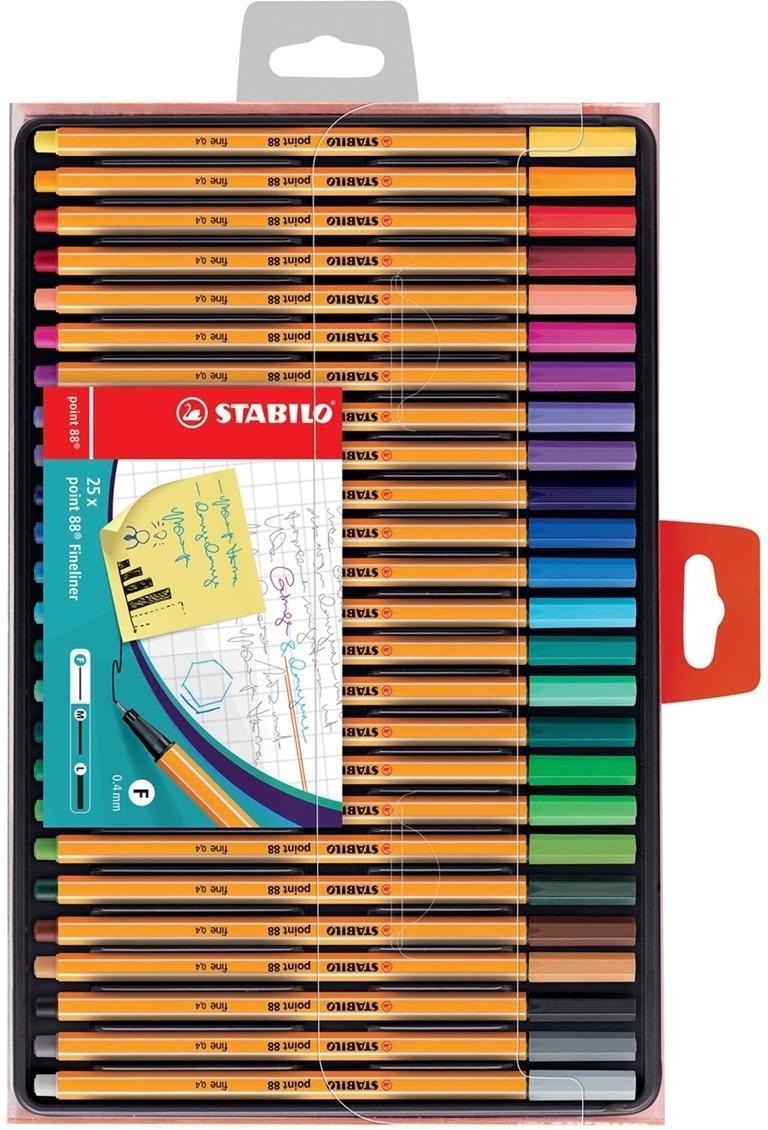 Набор капиллярных ручек линеров STABILO Point 88, 25 цветов #1
