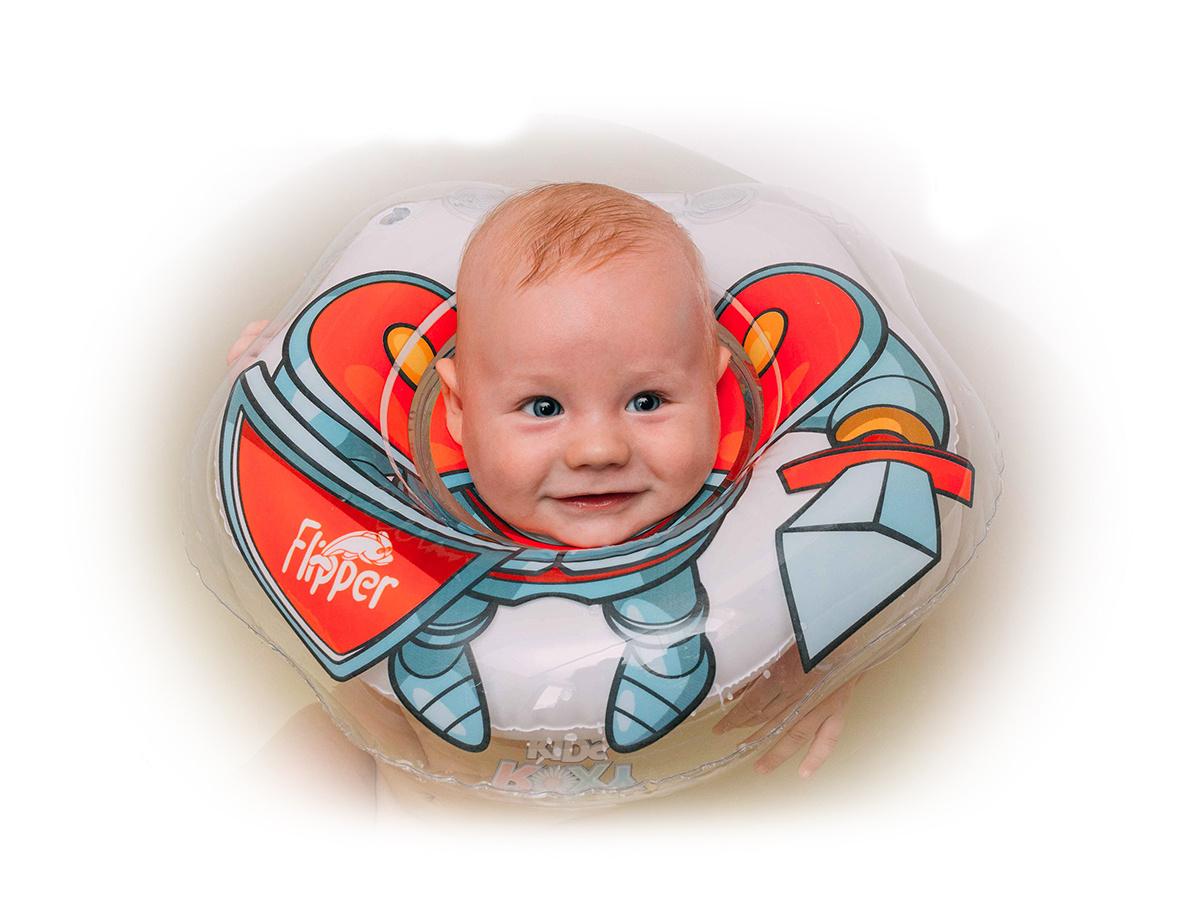 Круг надувной на шею для купания новорожденных и малышей Flipper Рыцарь от ROXY-KIDS  #1