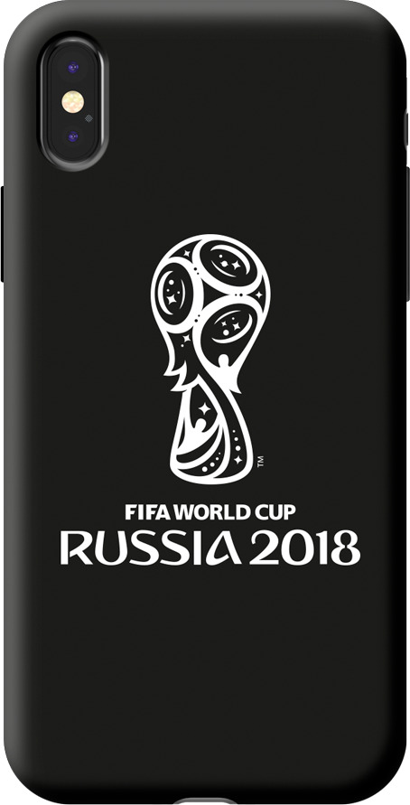 Чехол TPU для Apple iPhone X, FIFA Official Emblem white, Deppa чехол fifa 2018 official emblem white для samsung a5