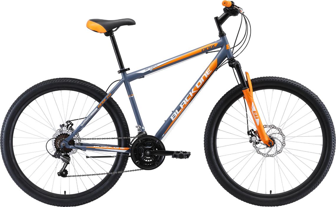 Велосипед BLACK ONE Onix 27.5 D 2019 18 серый/чёрный/зелёный