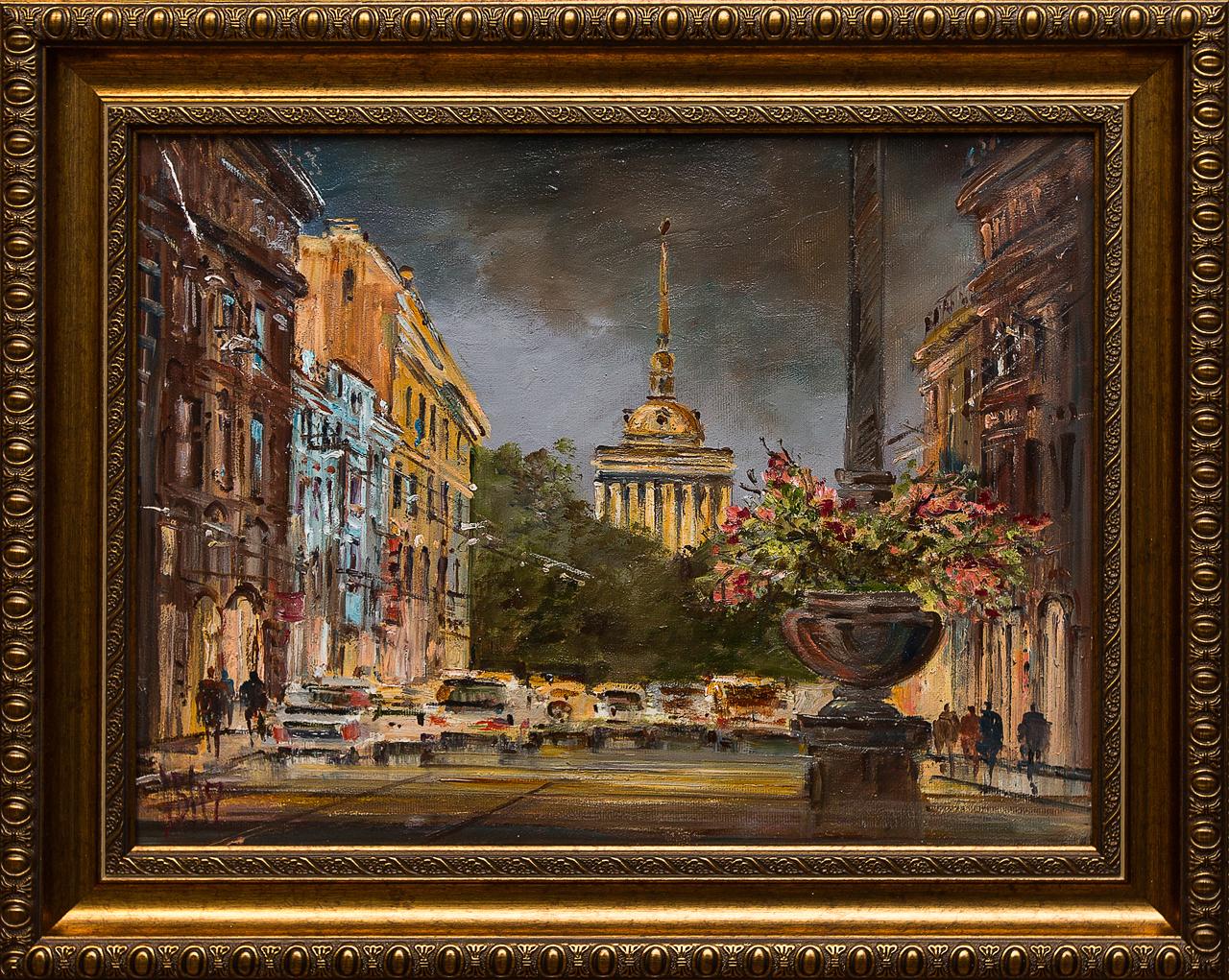 Картина масло Шумный город Шеренкова картина масло шумный город шеренкова