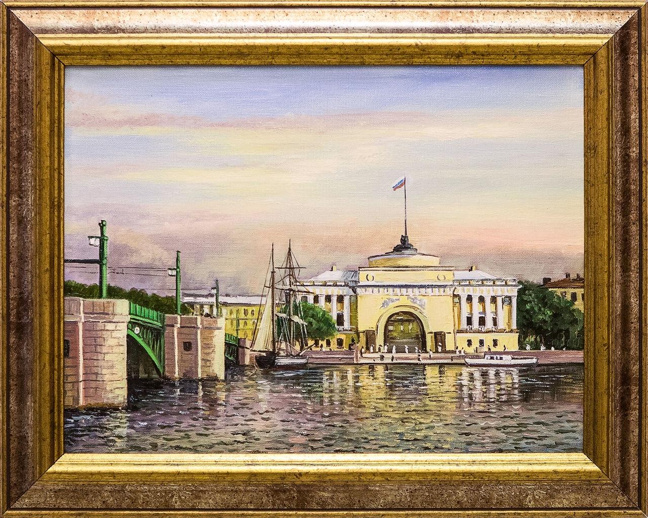 Картина маслом Вид на Адмиралтейство Воробьёв картина маслом гуляки воробьёв