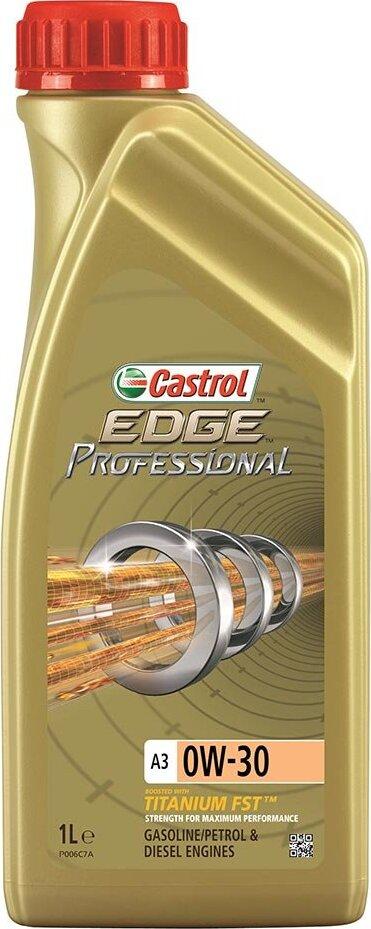 Моторное масло CASTROL EDGE Professional A3 Titanium FST, синтетическое, 0W-30, 1 л 159F05
