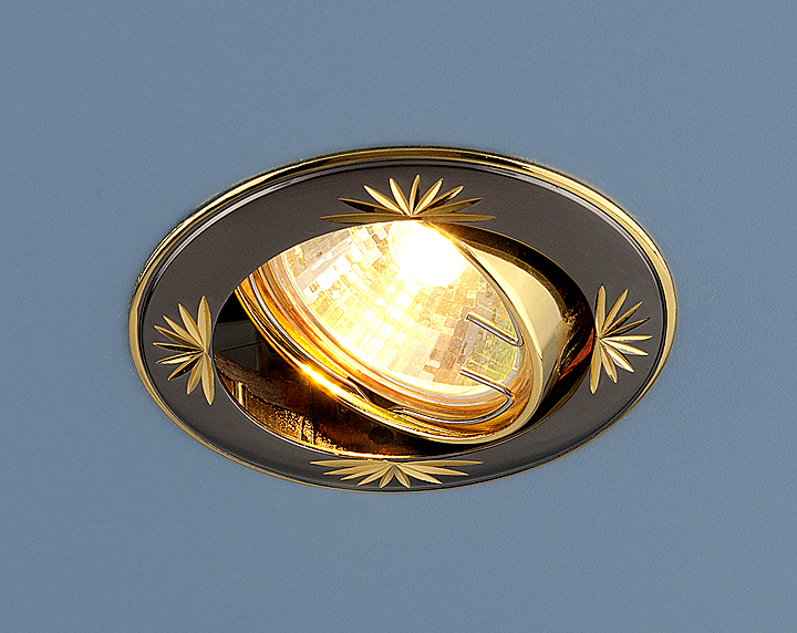 Встраиваемый светильник Elektrostandard Точечный 104A MR16 GU/GD, G5.3 встраиваемый светильник elektrostandard 104a mr16 ss gd сатин серебро золото 4607138143980