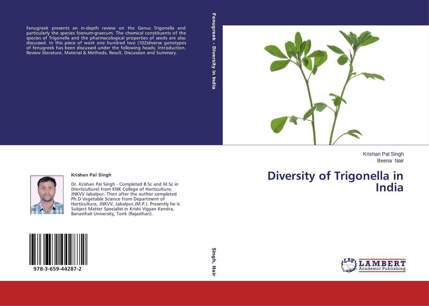 Krishan Pal Singh and Beena Nair Diversity of Trigonella in India mohamed aymen elouaer maher souguir and cherif hannachi effect of nacl priming on germination behavior of fenugreek