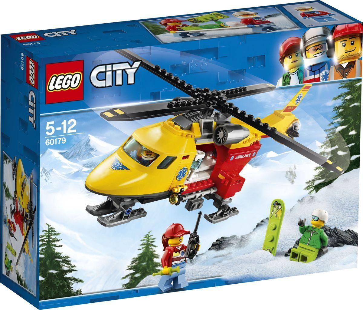 LEGO City Great Vehicles 60179 Вертолет скорой помощи Конструктор