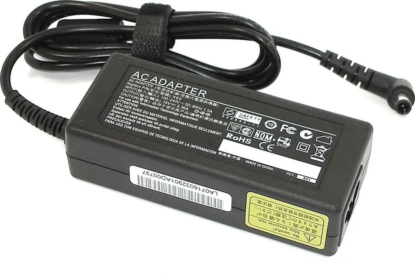 Блок питания Pitatel AD-246 для Fujitsu (16V 3.36A) адаптер питания для ноутбука pitatel ad 002