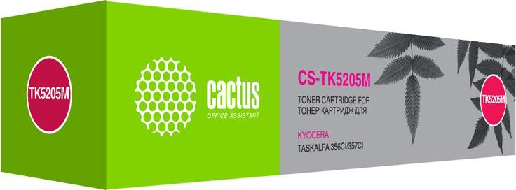 Тонер-картридж Cactus CS-TK5205M, пурпурный, для лазерного принтера