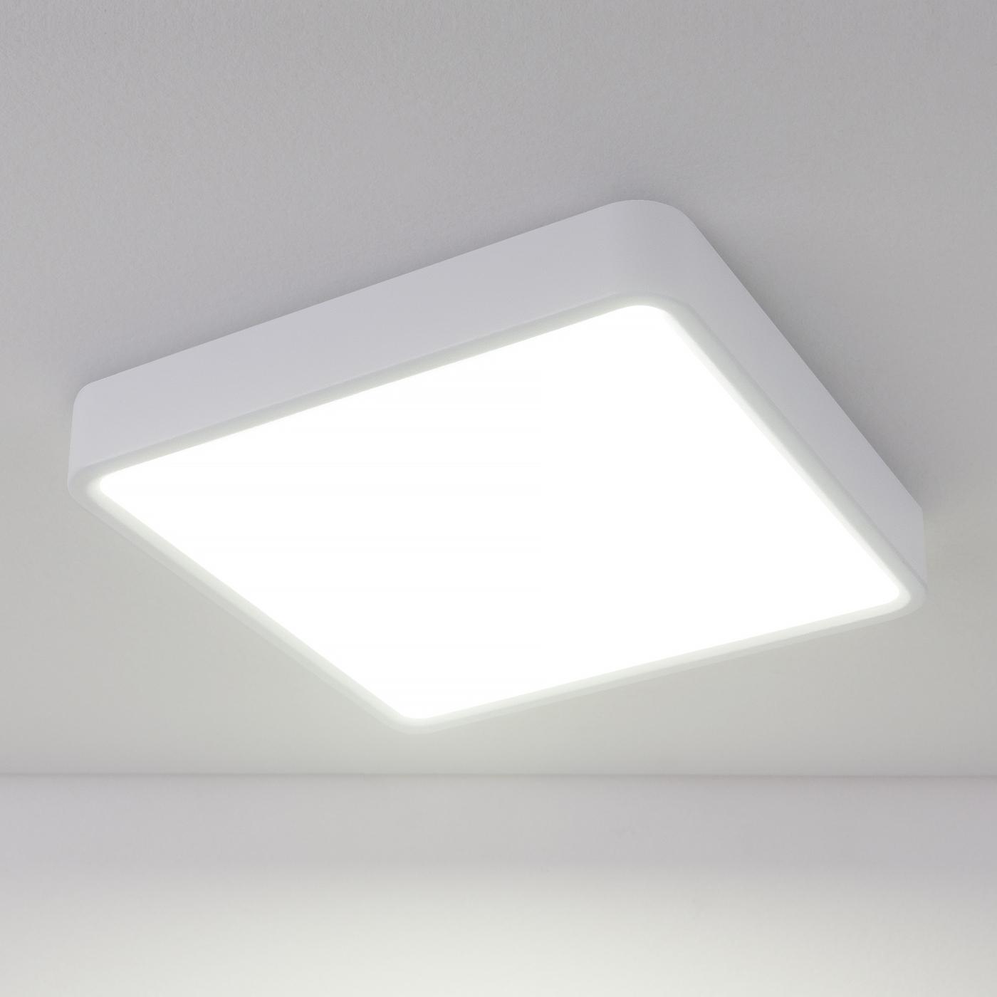 DLS034 18W 4200K/ Светильник светодиодный стационарный потолочный светильник накладной argenta 4848