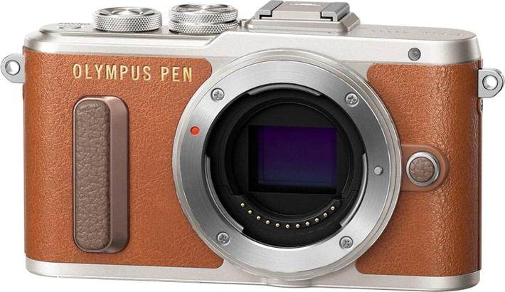 Беззеркальный фотоаппарат Olympus E-PL8 Body, коричневый