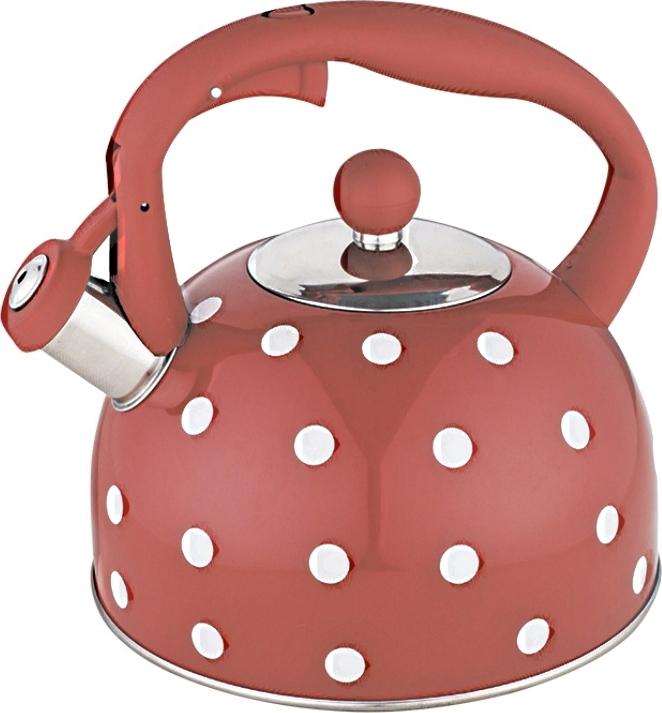Чайник Webber со свистком 2,7 литра красный
