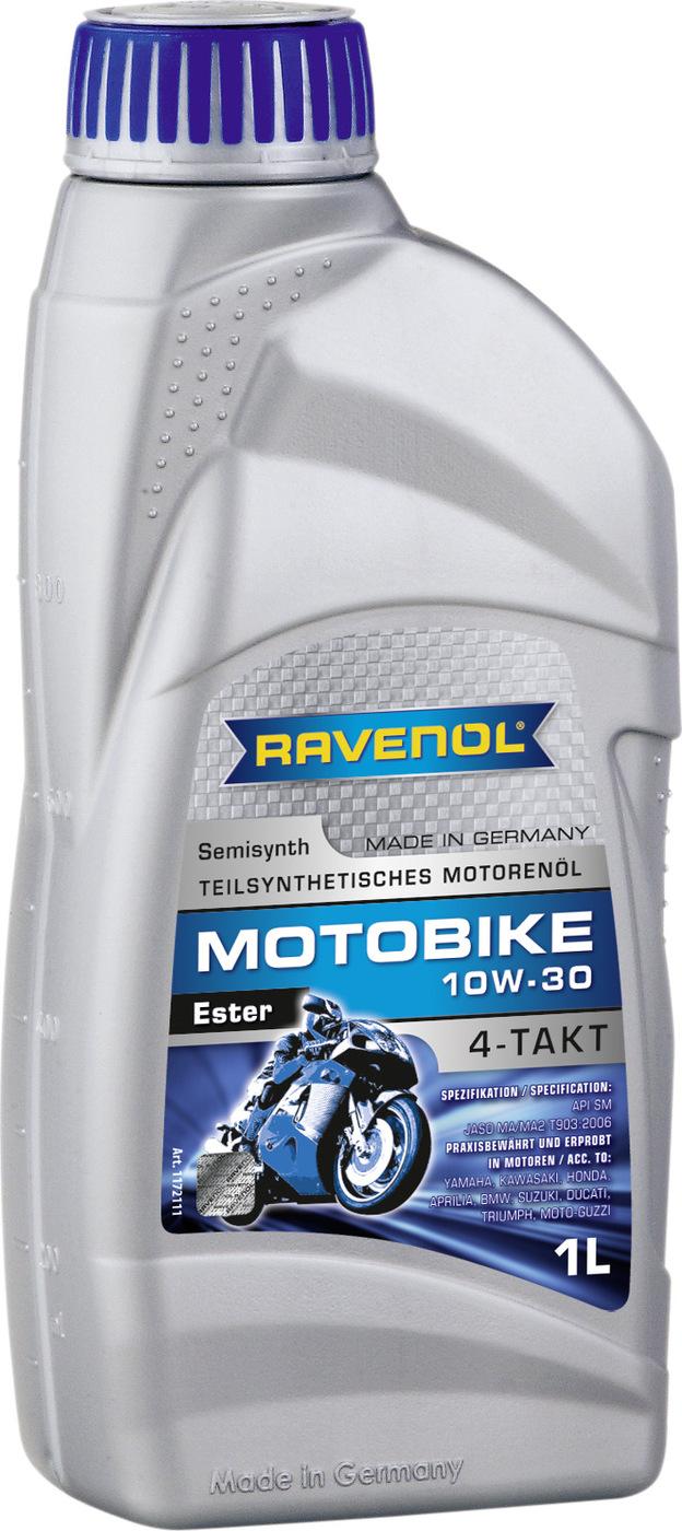 Моторное масло RAVENOL Motobike 4-T Ester SAE 10W-30 (1 л)