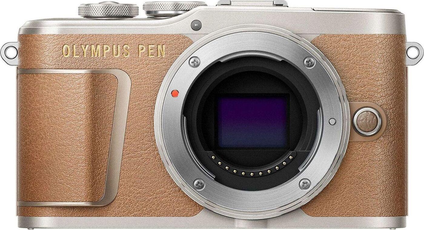 беззеркальный фотоаппарат olympus e-pl9, коричневый