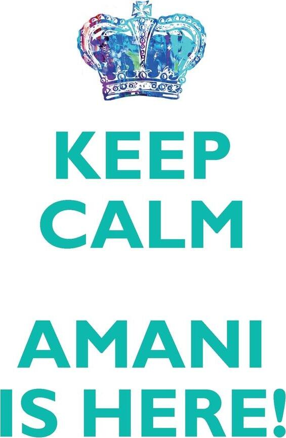 KEEP CALM, AMANI IS HERE AFFIRMATIONS WORKBOOK Positive Affirmations Workbook Includes. Mentoring Questions, Guidance, Supporting You