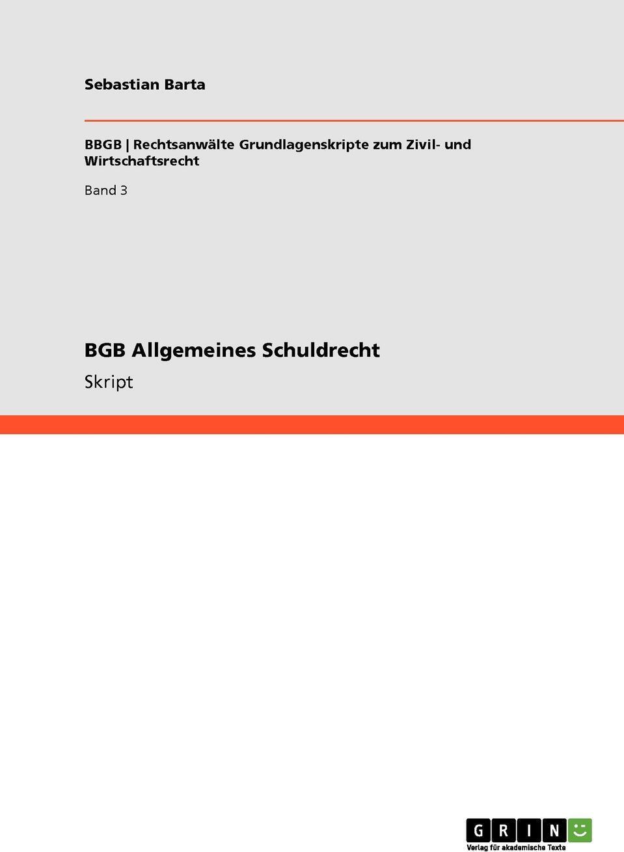 BGB Allgemeines Schuldrecht