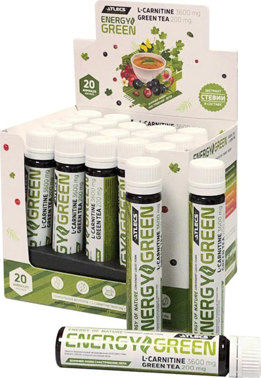 Карнитин L-Carnitine Energy Green Atlecs, 25 ml, настроение лета