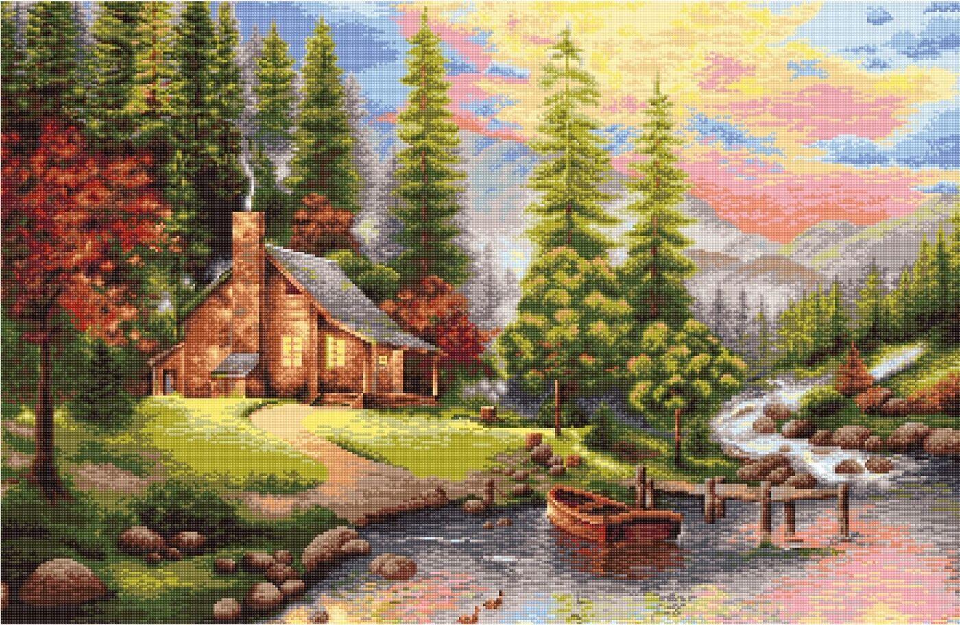 фото схемы гобеленов пейзаж