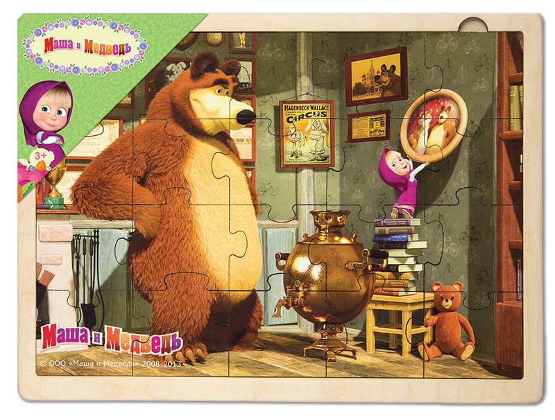 картинка маша и медведь для крупных пазлов распечатать нашего