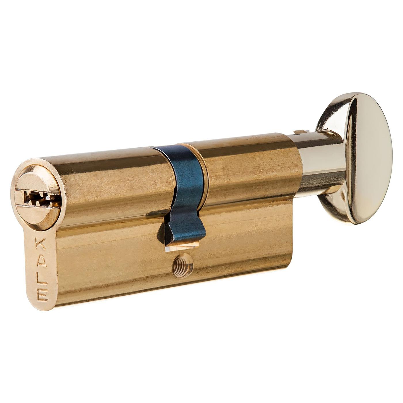 Цилиндр 164SM-80-C-BP, 35х35 мм, ключ/вертушка, цвет золото