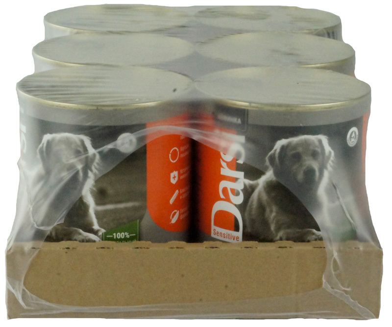 Влажный корм для собак с чувствительным пищеварением DARSI Ягненок, Консервы (паштет), 6 шт x 850 гр