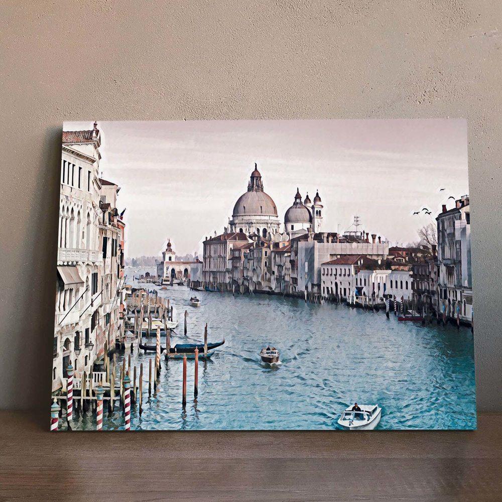 панорамная фотография венеция на холсте был лишь