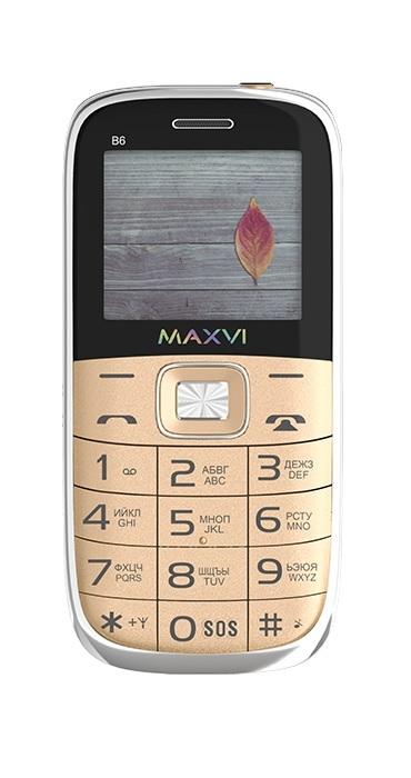 мобильный телефон maxvi b6, красный