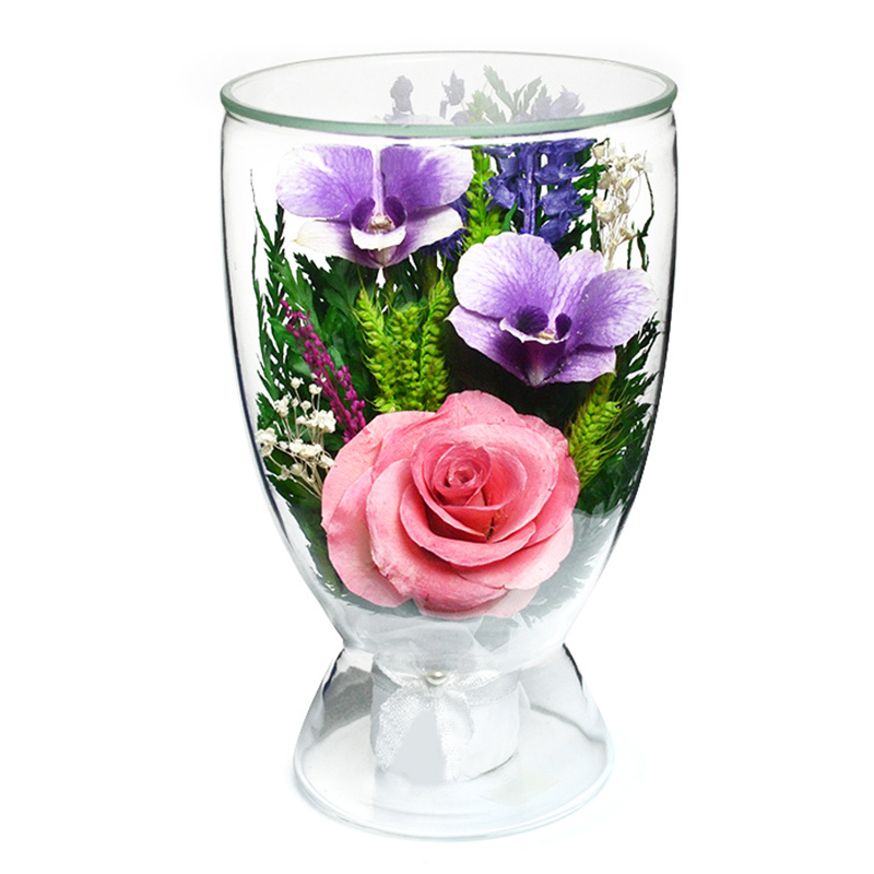стабилизированные цветы в стекле natural flower products
