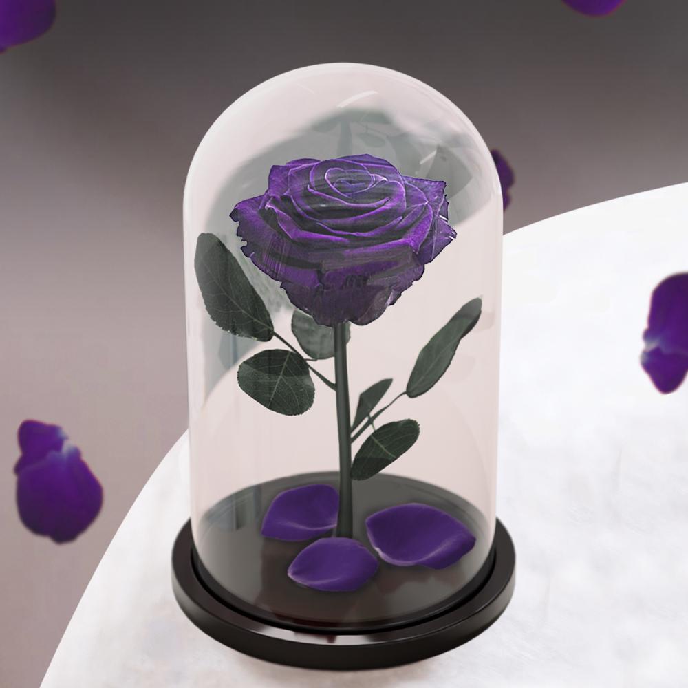 стабилизированные цветы в стекле notta & belle роза, 753 гр