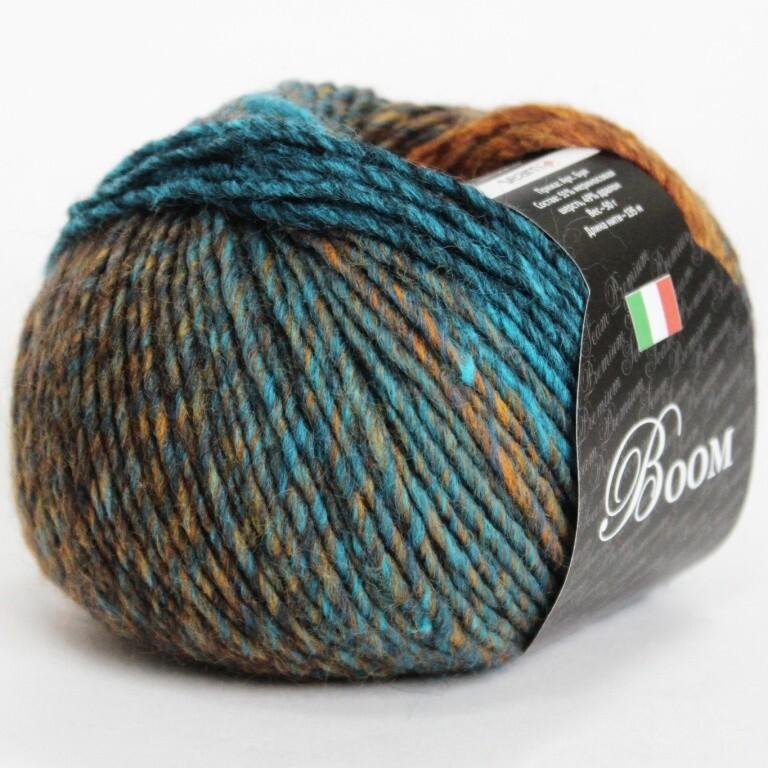 Пряжа Boom Seam цвет 48956, 2шт*(135м/50г), 51% мериносовая шерсть 49% дралон