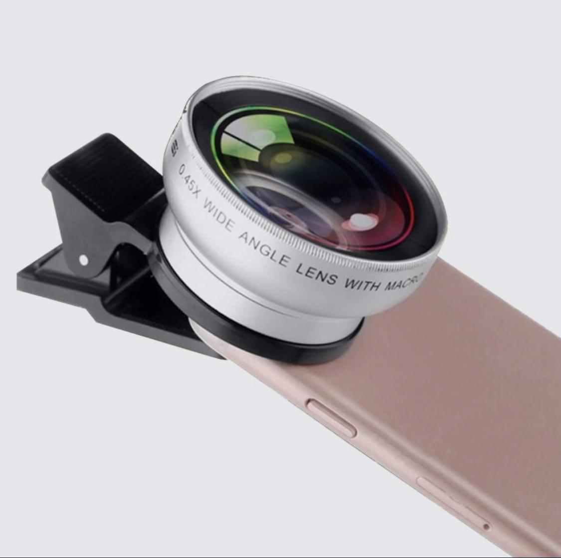 объектив panda shop универсальный для смартфона fisheye рыбий глаз, линза для макро съемки
