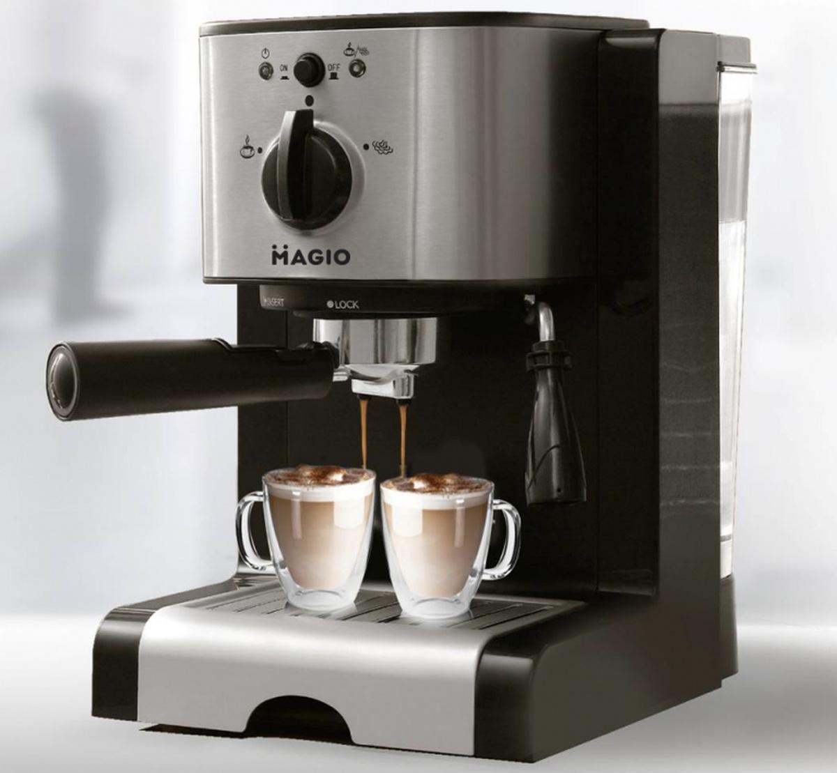 Кофеварка эспрессо Magio МG-960, итальянская помпа 15 бар #1