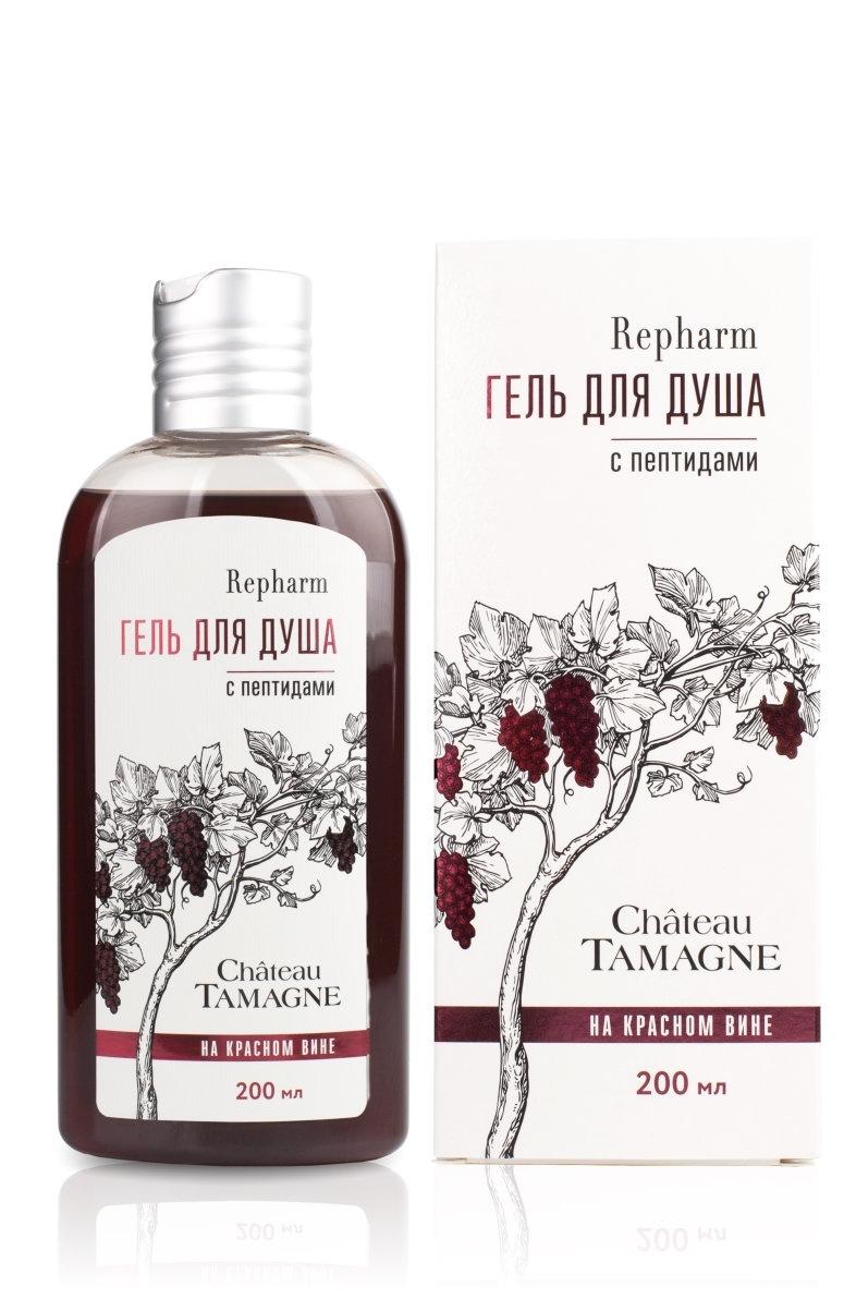 Repharm Гель для душа Chateau Tamagne на красном вине с пептидами 200 мл  #1