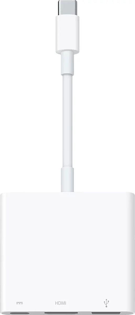 "Адаптер Apple USB Type-C Digital AV Multiport (MUF82ZM/A), ""USB Type-C - USB Type-C, HDMI, USB"", белый #1"