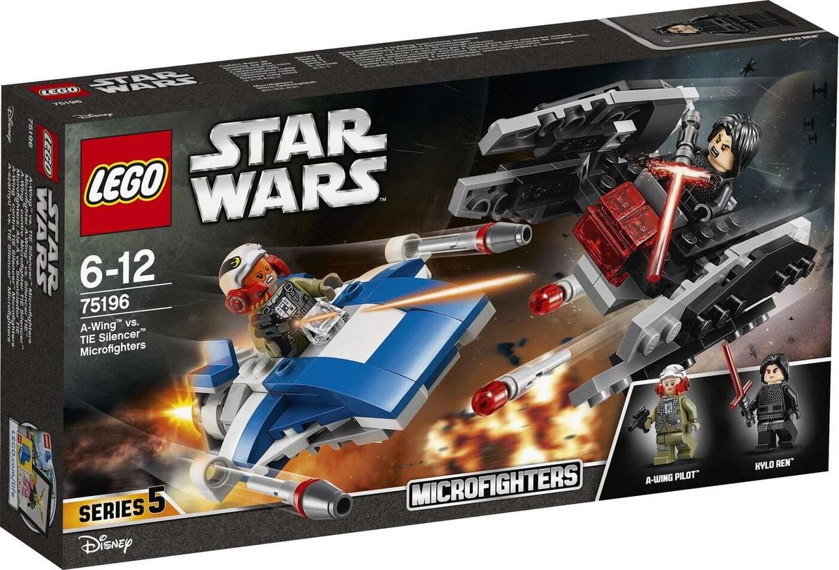 Конструктор LEGO Star Wars 75196 Истребитель типа A против бесшумного истребителя СИД  #1