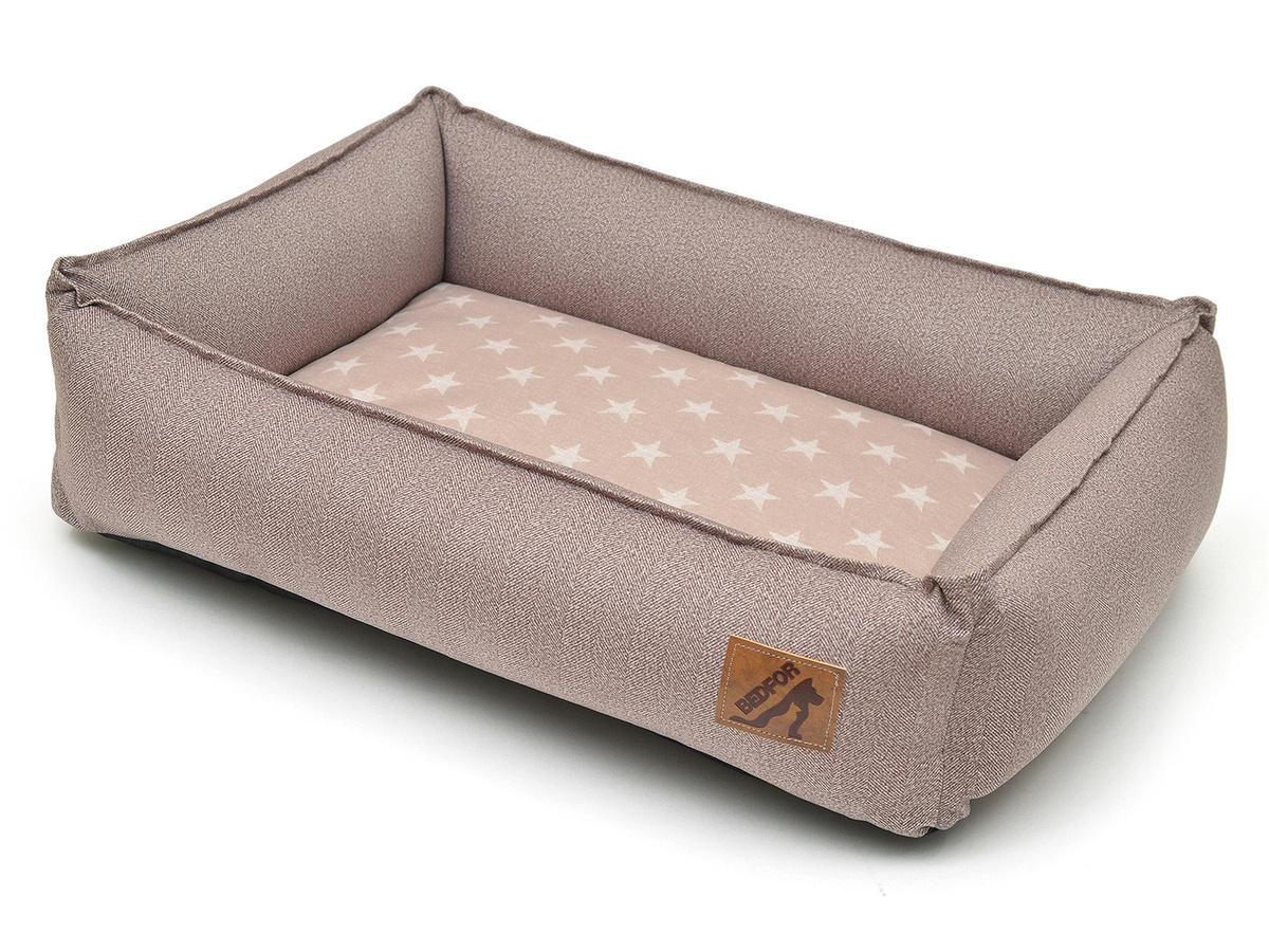 """Лежанка для животных """"Bedfor"""", со съемными чехлами, цвет: бежевый, 60 х 45 см  #1"""