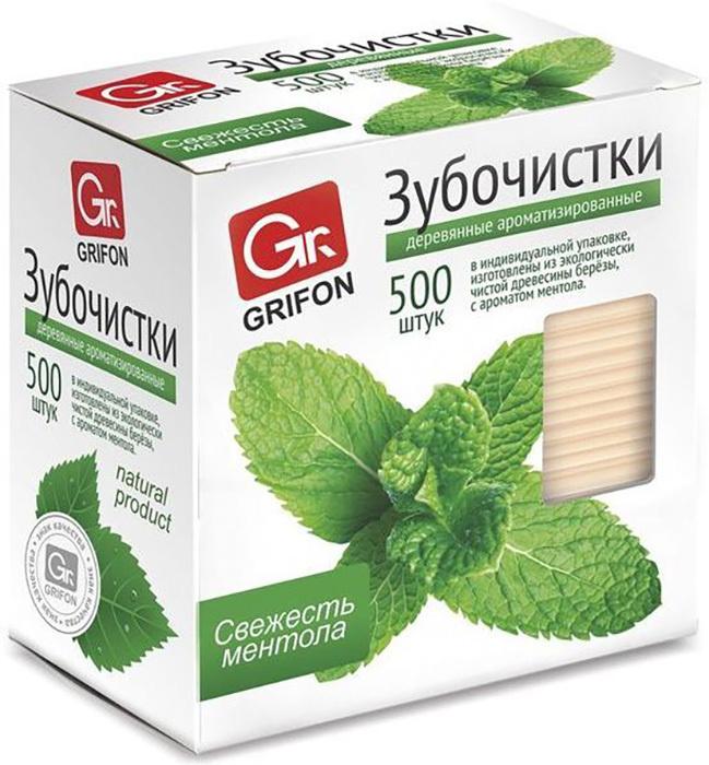 Зубочистки с ментолом из экологически чистой древесины березы, 500 шт., в индивидуальной упаковке  #1