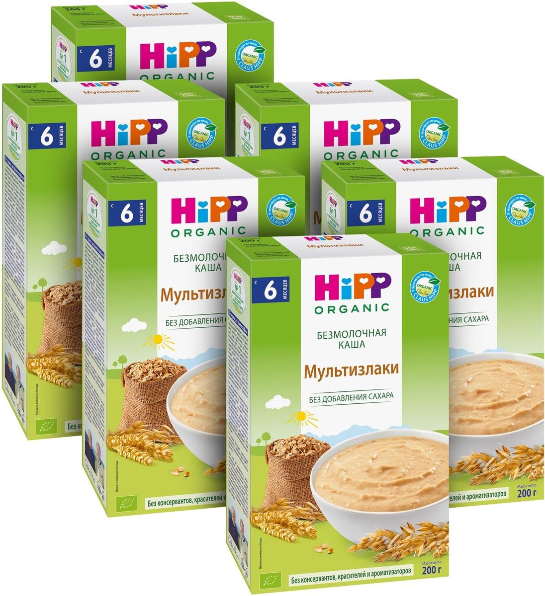 Hipp каша зерновая мультизлаки, 6 месяцев, 6 шт по 200 г #1