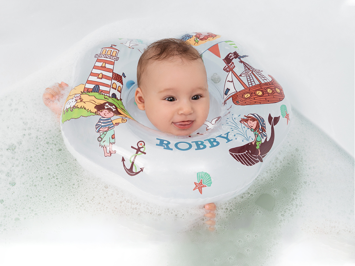 Круг надувной на шею для купания новорожденных и малышей Robby от ROXY-KIDS  #1