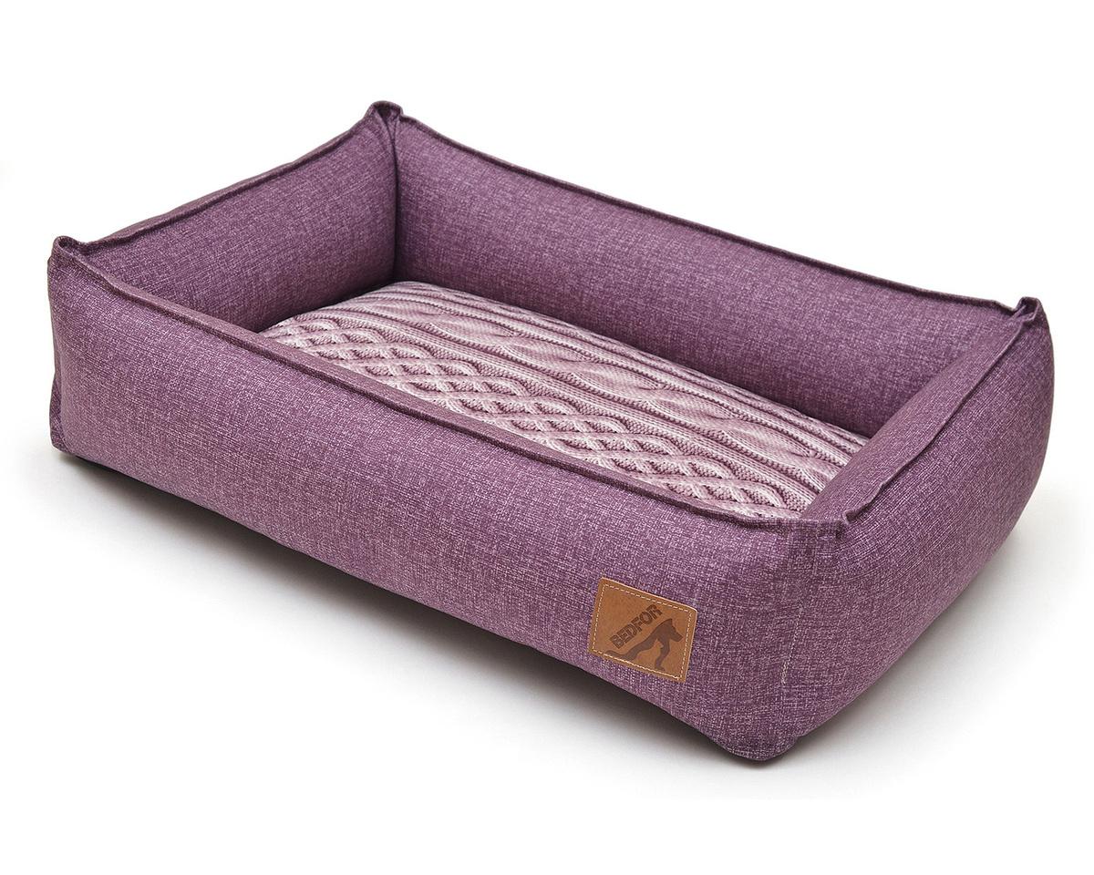 Лежанка для животных Bedfor, со съемными чехлами, цвет Лавандовый, размер 70 х 50 см  #1