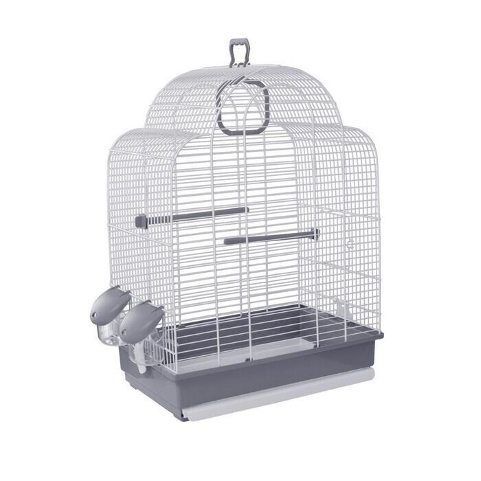 Клетка для птиц VOLTREGA (648), белый/серый, 39х25.5х54см #1