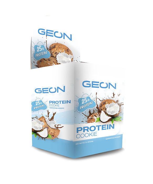 Печенье протеиновое GEON Шоколад и кокос 6 шт. #1